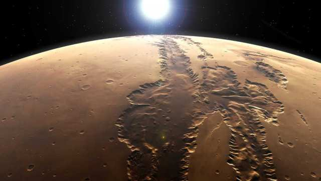 Valles Marinaris on Mars